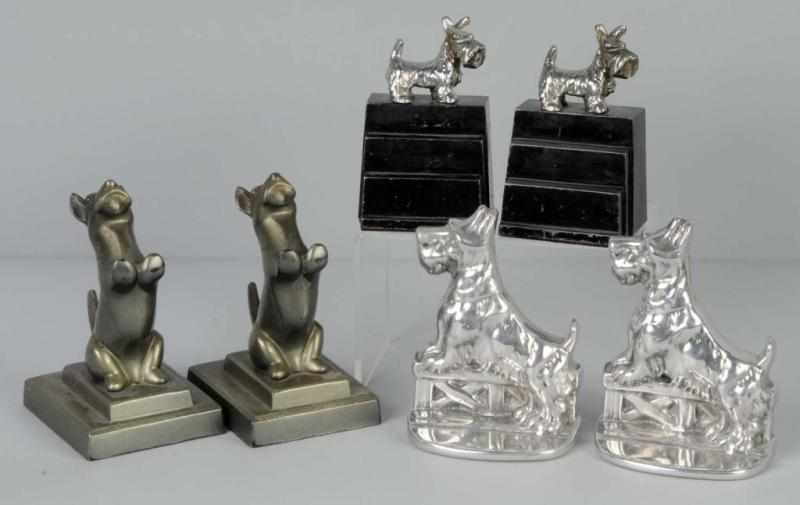 Lot of 3: Pairs of Scottie Bookends. 