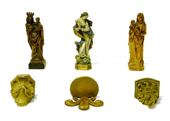 Price guide for Three 20th C  religious statues and three