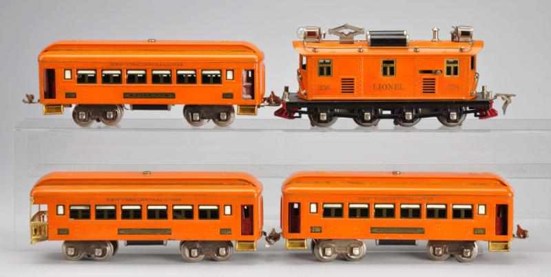 Lionel O-Gauge No. 256 Passenger Train Set.