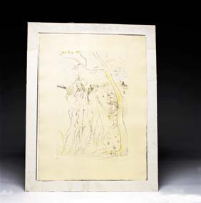 SIGNED DALI COLOR ETCHING Color etching on