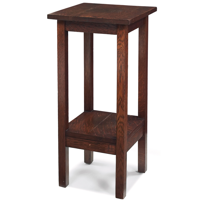 Price Guide For Gustav Stickley Telephone Table 605 Square