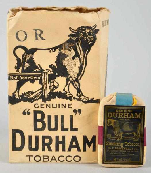 Bull Durham Display Box with Tobacco Pouches.