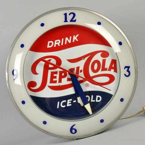 Pepsi-Cola Electric Light-Up Clock. 