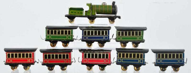 Tin Litho Train Set Penny Toy. 