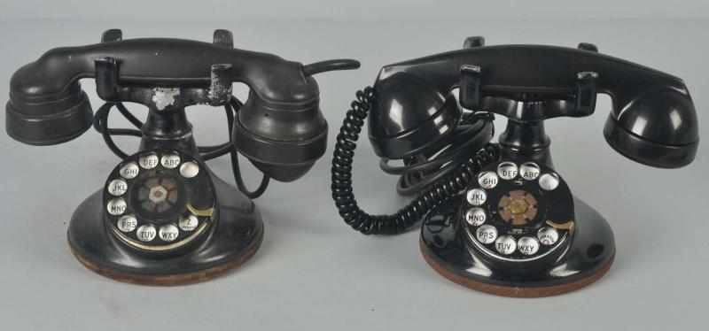 Lot of 2: Western Electric 102 Cradle Telephones.