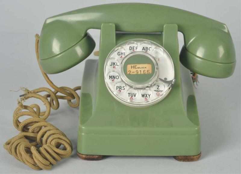 Western Electric Green 302 Cradle Telephone.