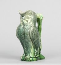 594. Majolica Owl Pitcher, circa 19th Century