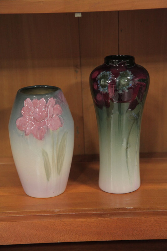 Price Guide For Two Weller Vases A Tapered Vase In Eocean