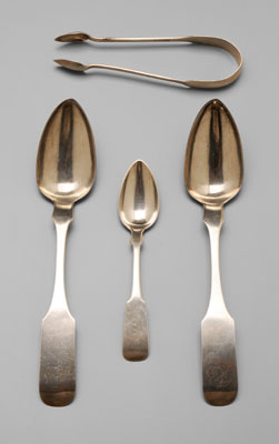 Southern Coin Silver Flatware Charleston,