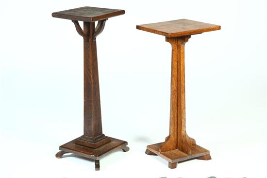 TWO ARTS & CRAFTS PLANT STANDS.  American