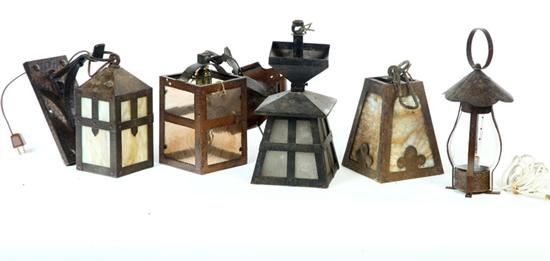 GROUP OF LAMPS.  American  20th century.