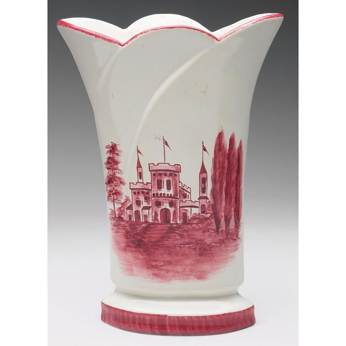 Price Guide For Rare Camark Pottery Vase Castle Series