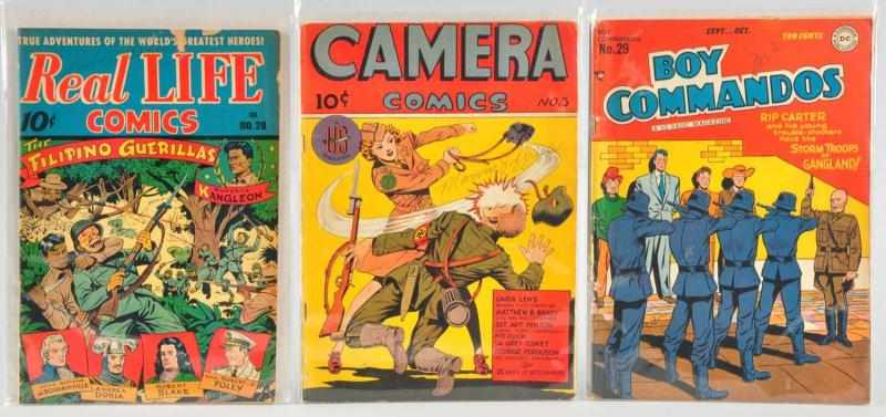 Lot of 3: 1940s Golden Age Comics. 