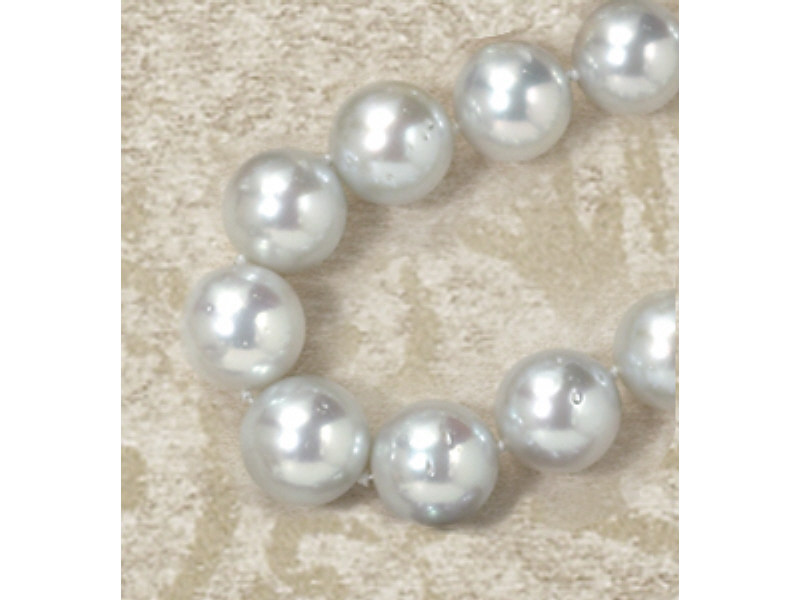 SILVER WHITE SOUTH SEA PEARL NECKLACE South