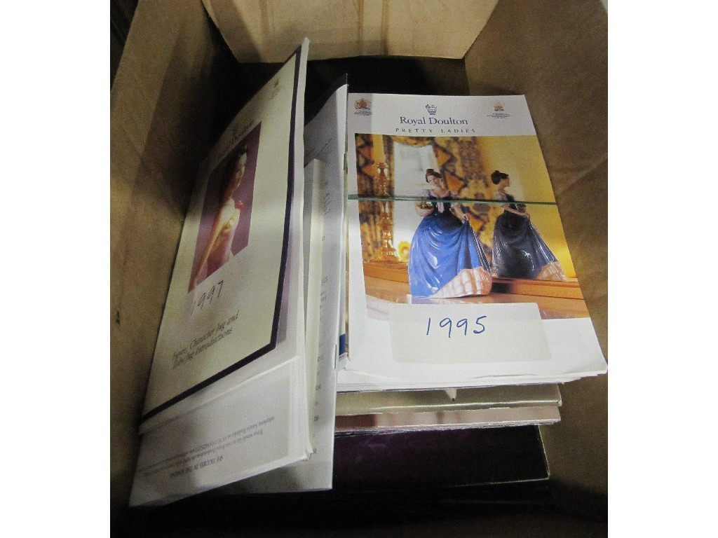 Box of assorted books and leaflets on Royal