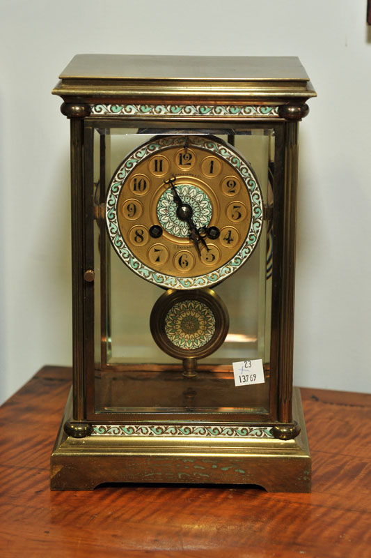 SPAULDING & CO. MANTLE CLOCK. Eight day
