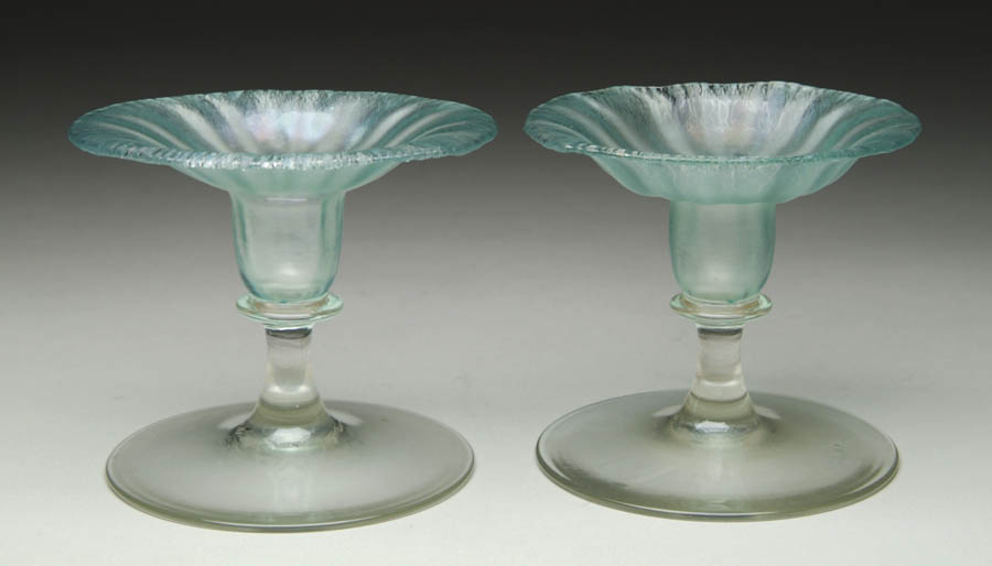 PAIR OF TIFFANY CANDLESTICK HOLDERS. Beautiful