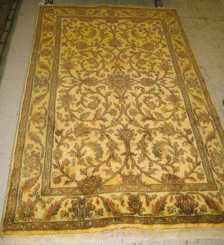 HAND KNOTTED ORIENTAL AREA RUG, Persian Kashan