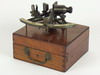 SEXTANT - Mahogany boxed early 20th C brass