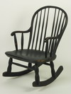 ROCKING CHAIR - 18th c, bow back rocking
