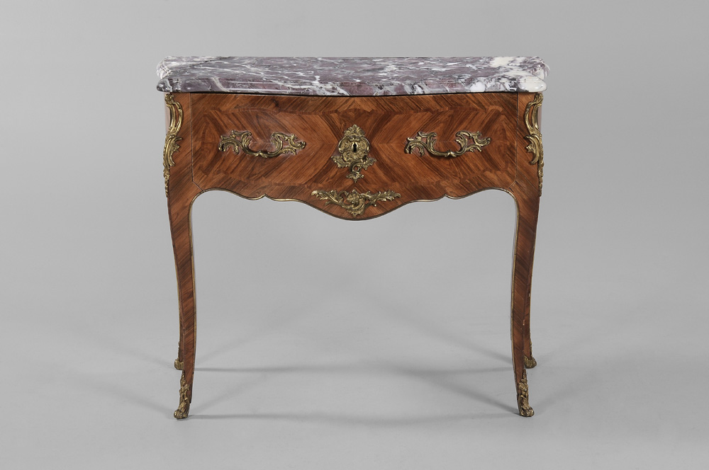 Louis XV Style Marble-Top Commode French,