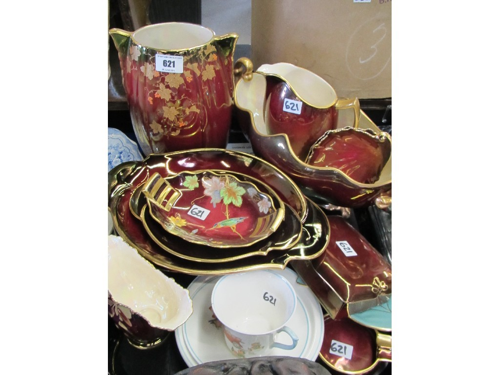 Tray lot of assorted Carlton Ware Rouge Royale