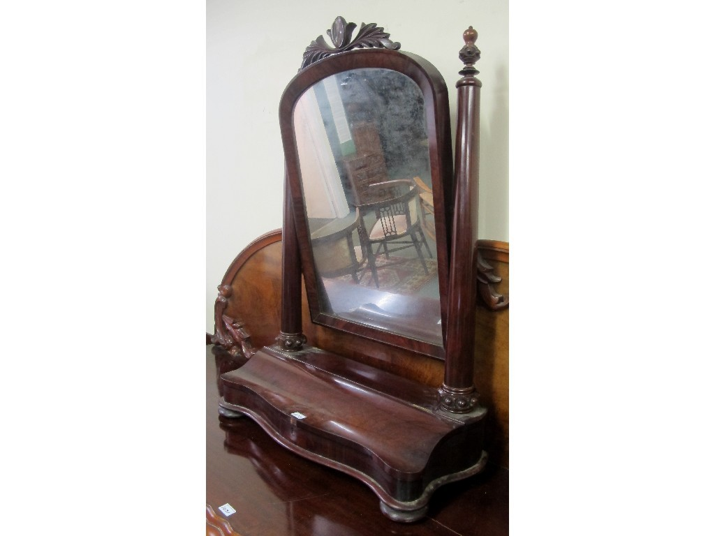 Early Victorian mahogany dressing mirror
