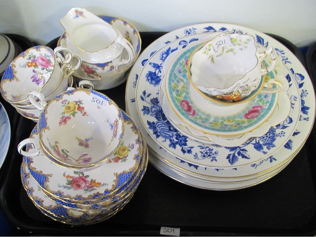 Aynsley China 1/2 teaset, Wedgwood plates