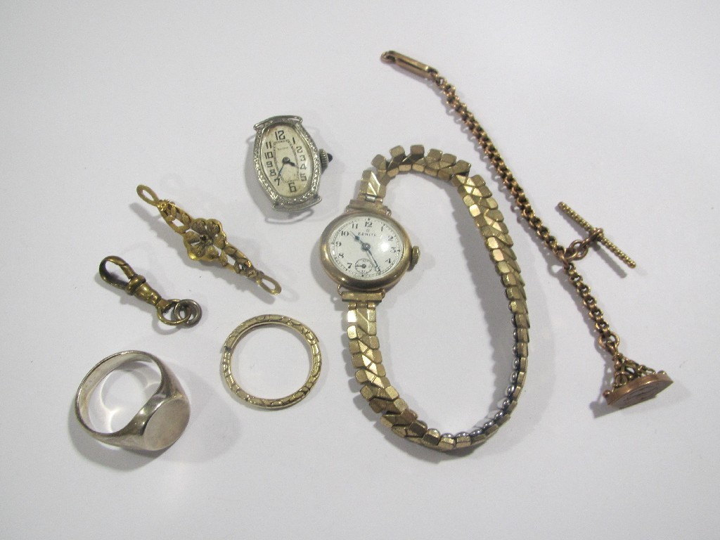 Lot comprising two early 20 th century gold