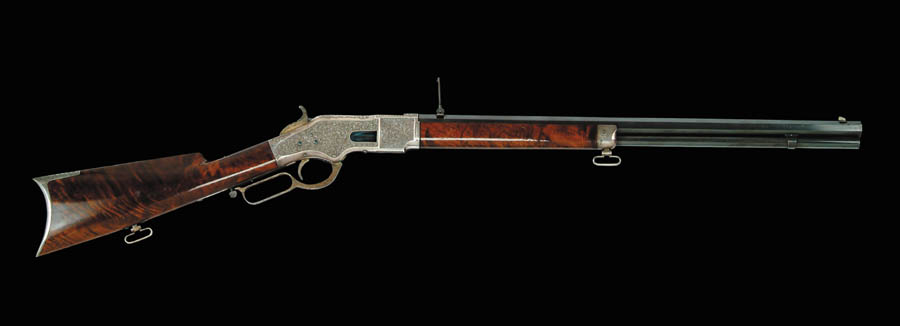 SPECTACULAR CASED ENGRAVED WINCHESTER MODEL