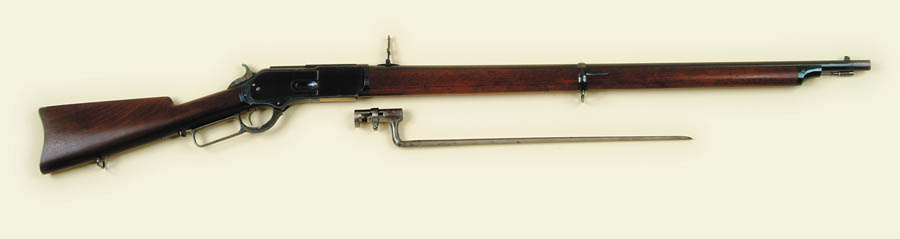 RARE WINCHESTER MODEL 1876 LEVER ACTION MUSKET.