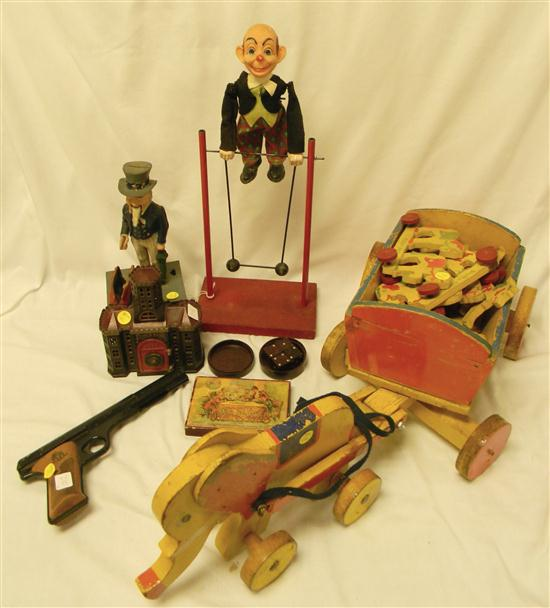 TOYS: including: 20'' h. balancing man  Uncle