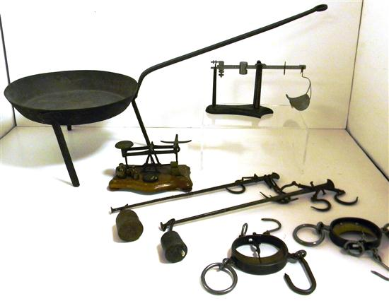 Collection of six 19th C. scales including