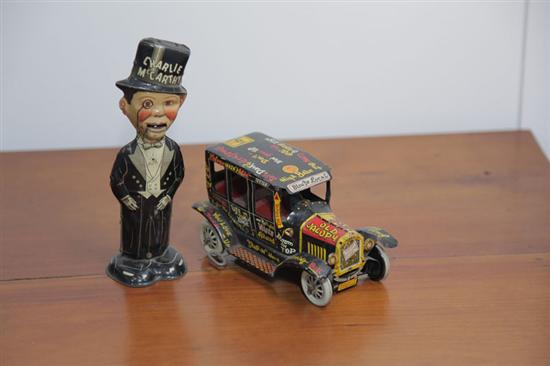TWO TIN WINDUP TOYS. Both Marx. Old Jalopy.