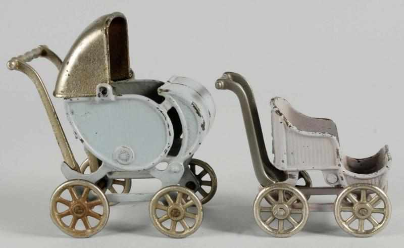 Lot of 2: Cast Iron Arcade Baby Carriage