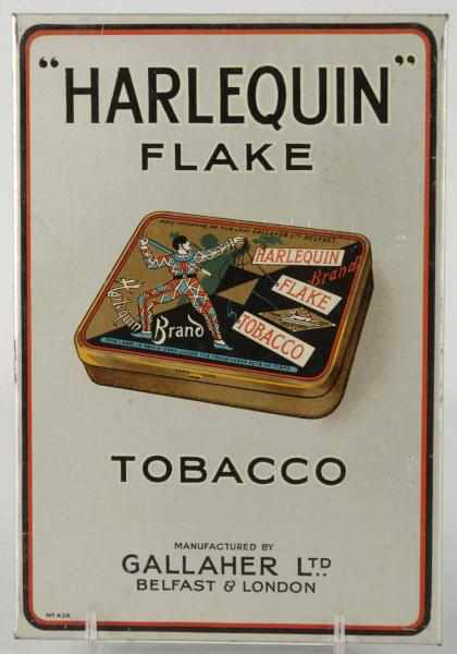 Harlequin Flake Tobacco Advertising Sign.