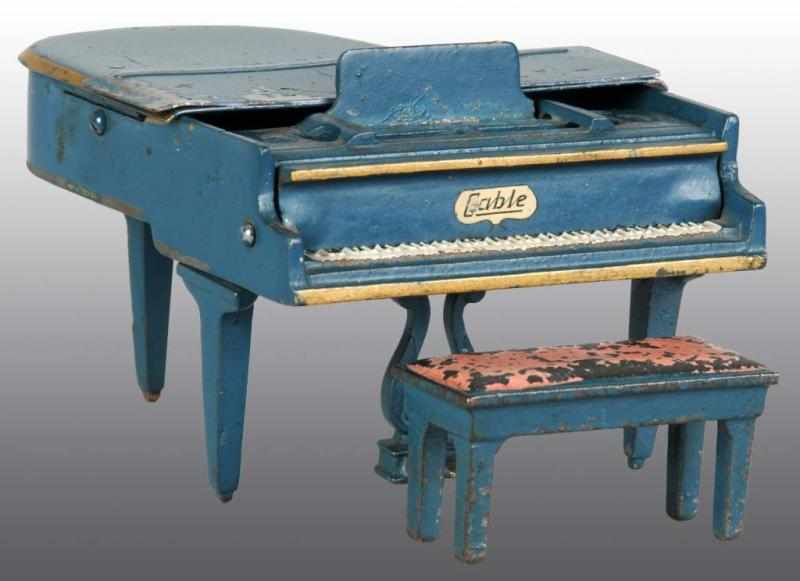 Cast Iron & Tin Arcade Toy Grand Piano with