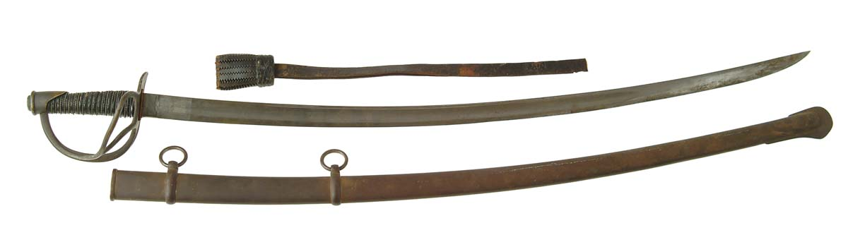 HISTORIC CONFEDERATE USED CAVALRY SABER.