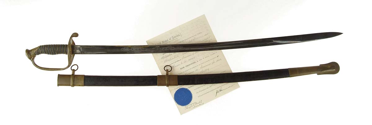 SWORD AND DOCUMENTS OF GENERAL WM. LARIMER,