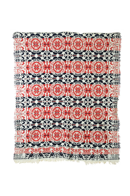 OHIO JACQUARD COVERLET.  Adam Yearous  Knox