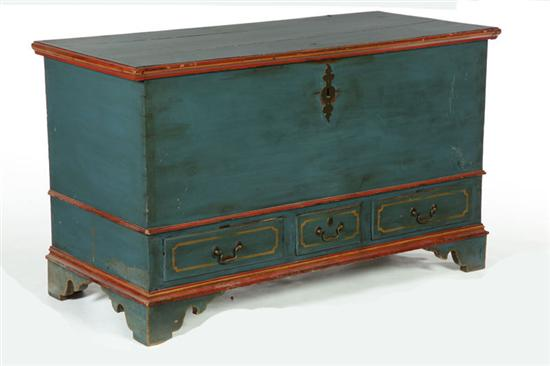 BLANKET CHEST.  Pennsylvania  late 18th century