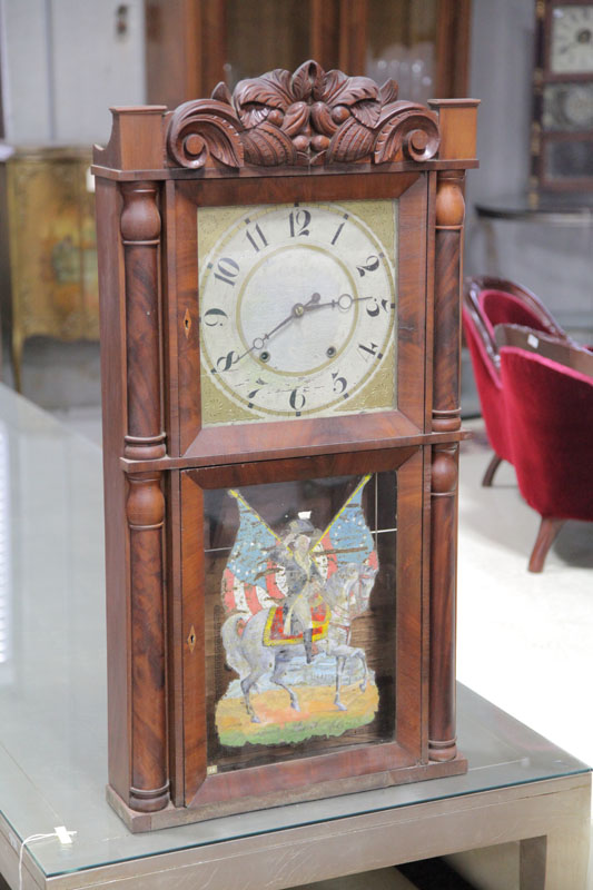 ELI TERRY JR. MANTLE CLOCK. Eight day clock