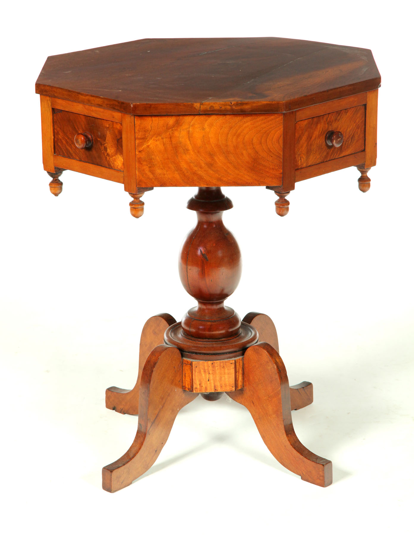 CLASSICAL RENT TABLE.  Ohio  ca.1830  walnut