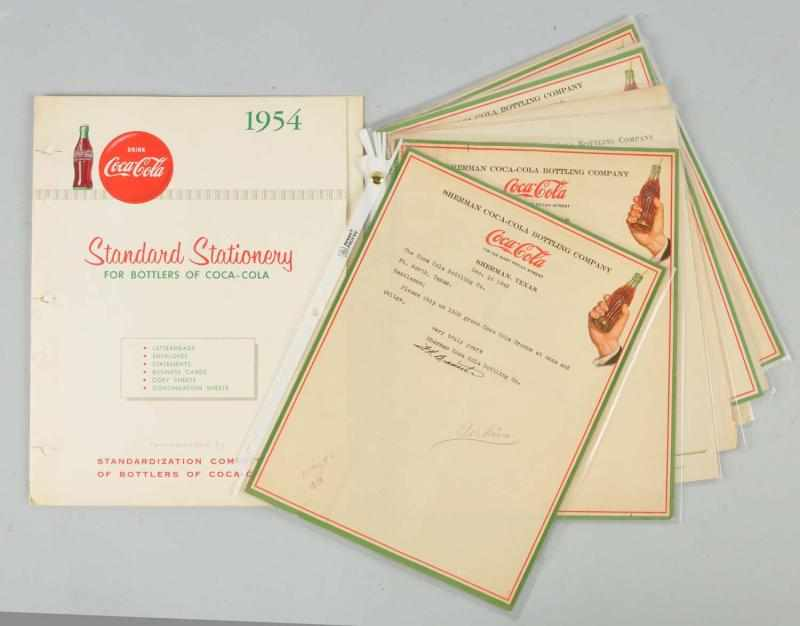 1954 Coca-Cola Standard Stationary Booklet.