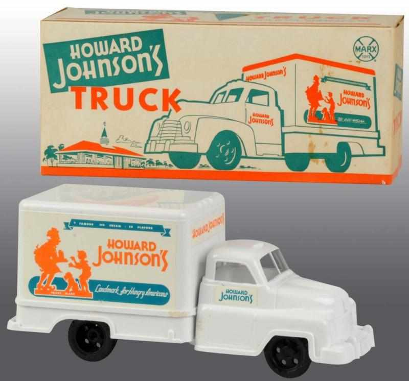 Price guide for Marx Howard Johnson\'s Truck Toy. Description