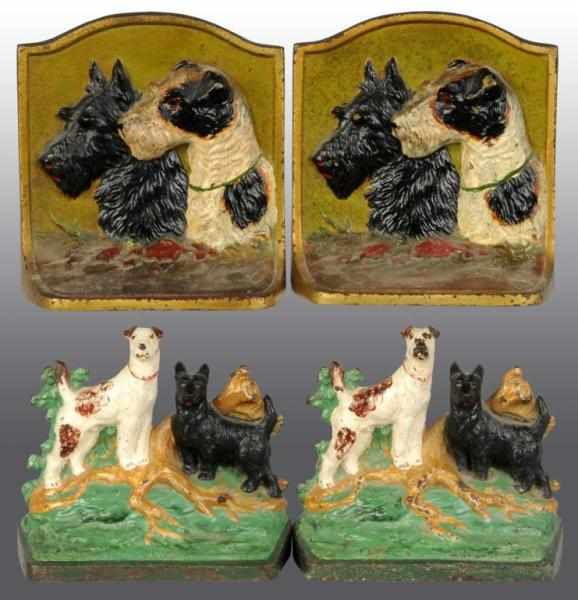 Lot of 2: Pairs of Cast Iron Scottie Bookends.