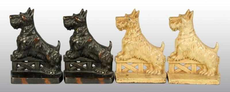 Lot of 2: Pairs of Cast Scottie Bookends.