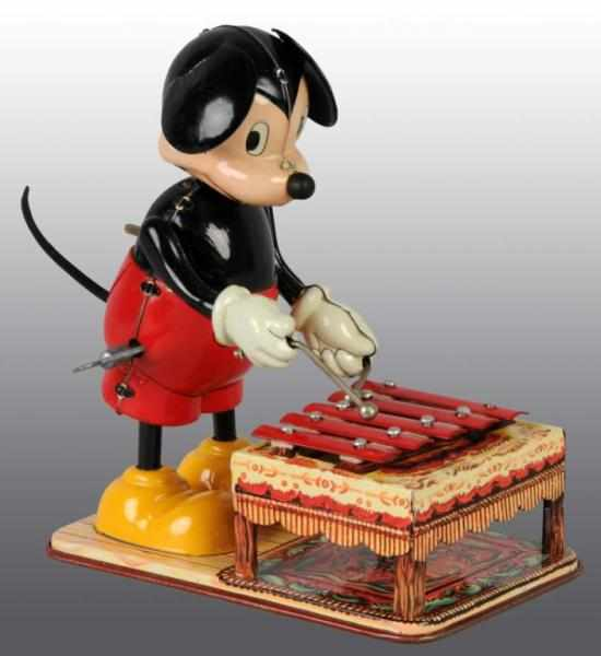 Tin Linemar Disney Mickey Xylophone Wind-Up
