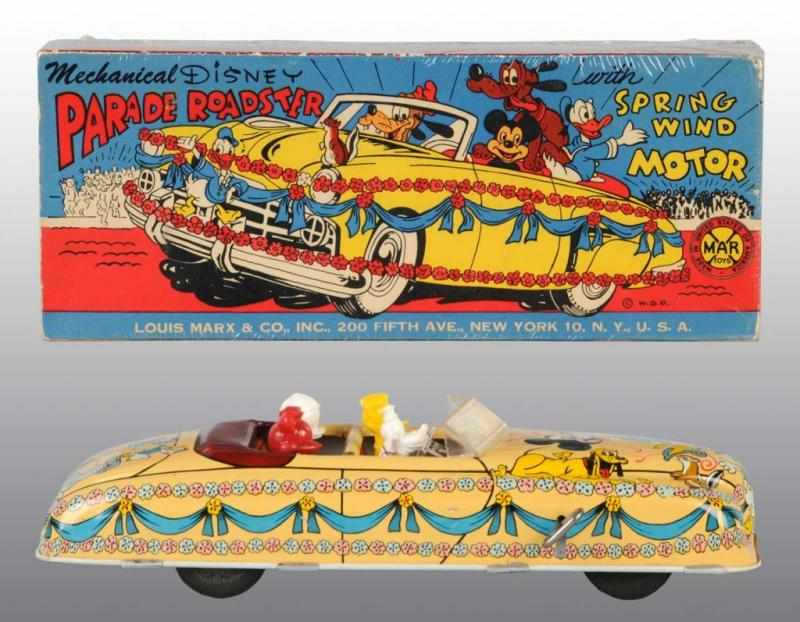 Tin Marx Disney Parade Roadster Wind-Up Toy.