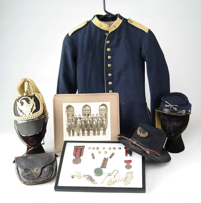 LARGE LOT OF CUSTER ERA 7TH CAVALRY UNIFORMS